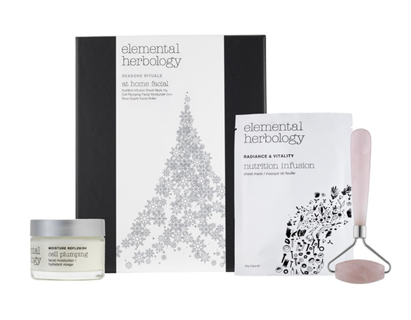 The ideal at home pamper kit for a salon experience with Elemental Herbology's Facial Set