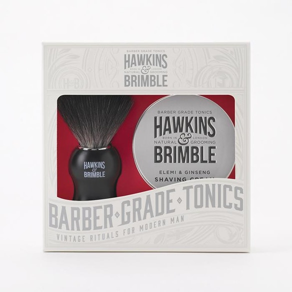 Gift him this Valentine's Day with a Hawkins & Brimble shaving gift set