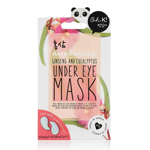 An under eye mask with ginseng and eucalyptus from Oh K!