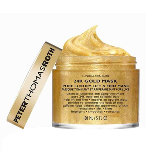 The most luxurious face masks, Peter Thomas Roth's 24k Gold Mask will lift and firm the complexion.