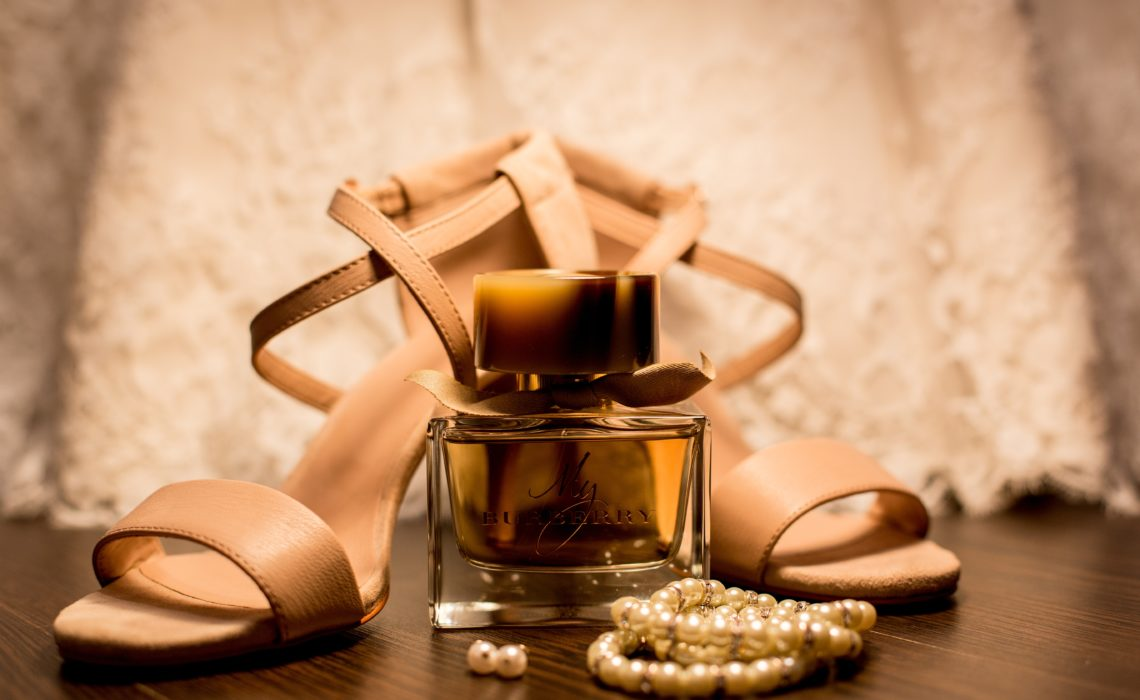 Image of My Burberry perfume with shoes