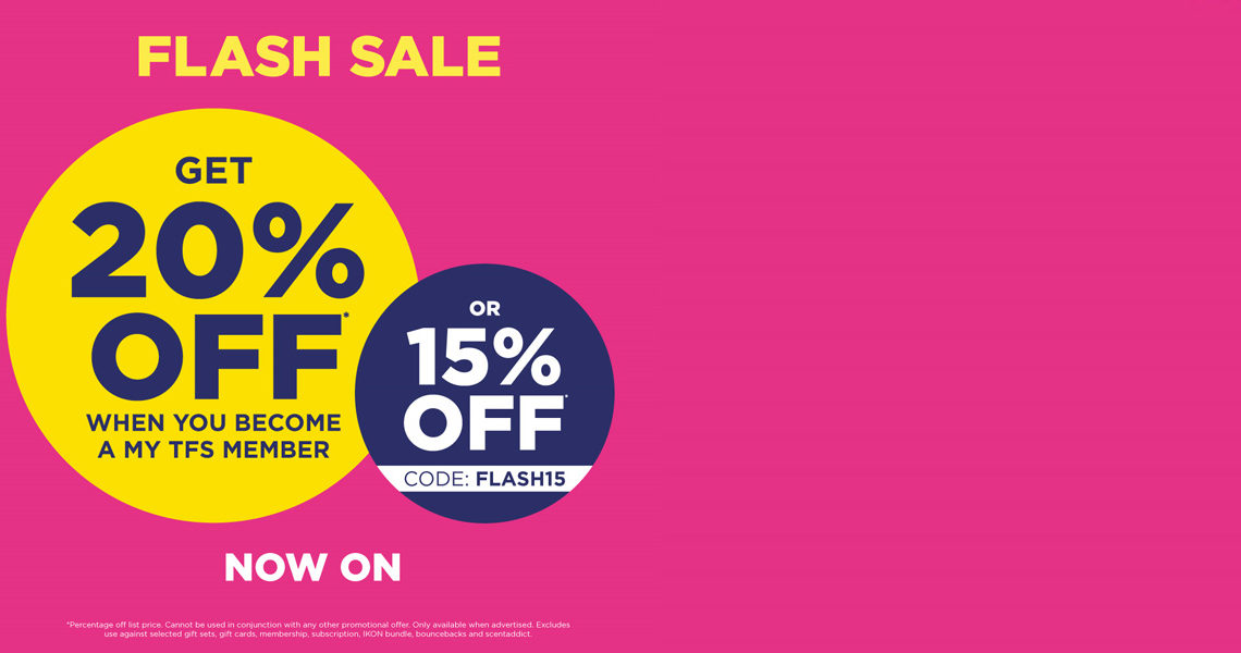 Save 15%* on fragrance with Flash