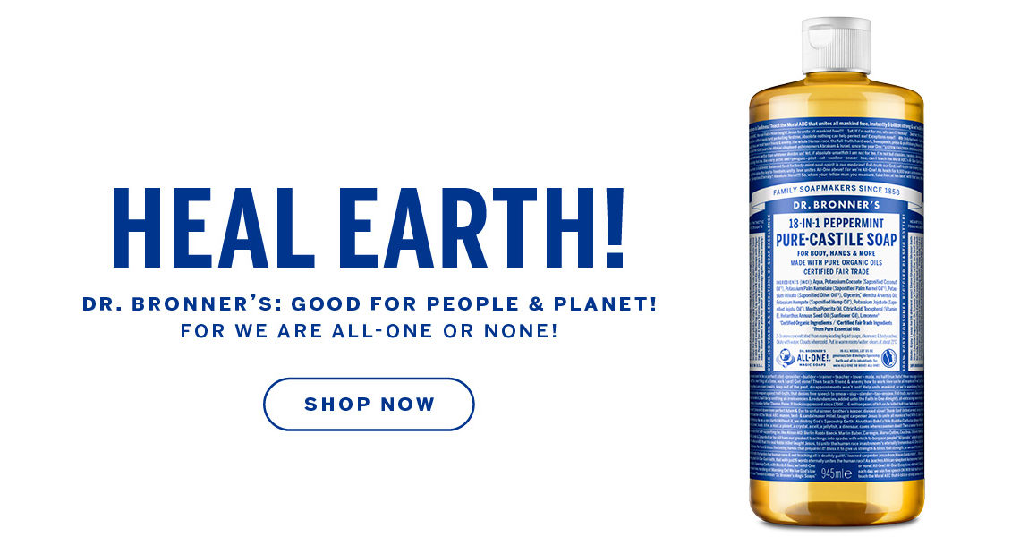 Free Dr Bronner gift with Beauty at The Fragrance Shop