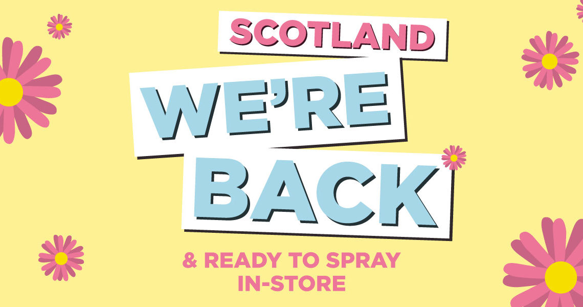 The Fragrance Shop's Scotland stores are reopening on Monday 26th April