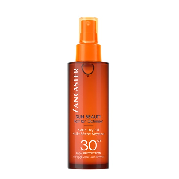 Lancaster Sun Beauty Satin Sheen Oil Fast Tan Optimizer SPF30 150ml from Beauty at The Fragrance Shop